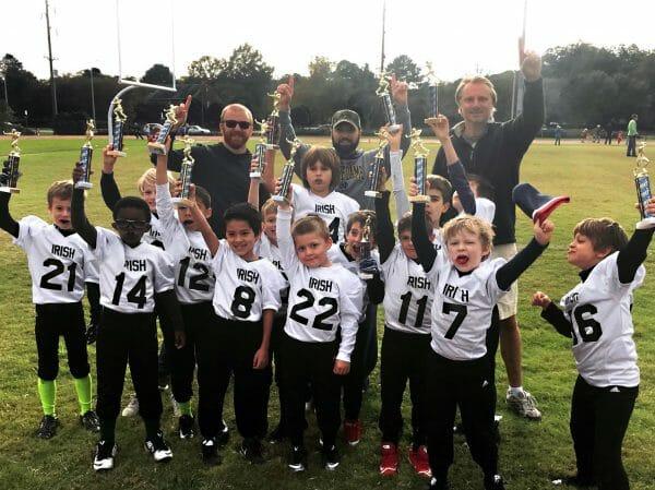 Jason Swango and the Irish flag football team