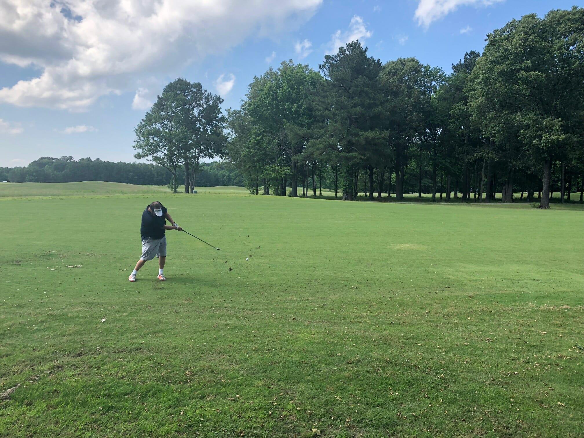 Jason Swango shows his skills at Aeropines Golf Club