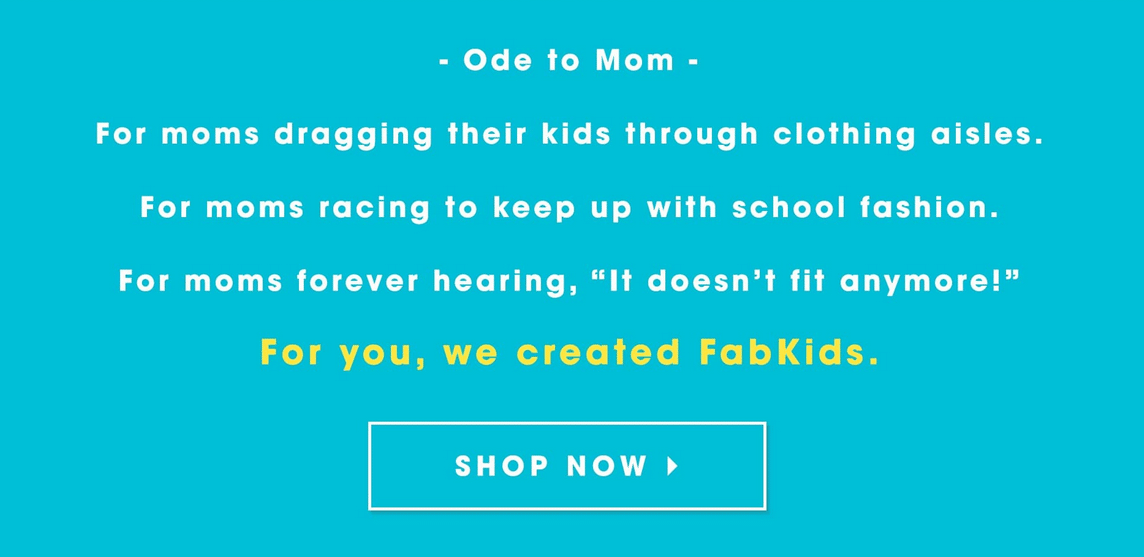 fabkids ode to mom