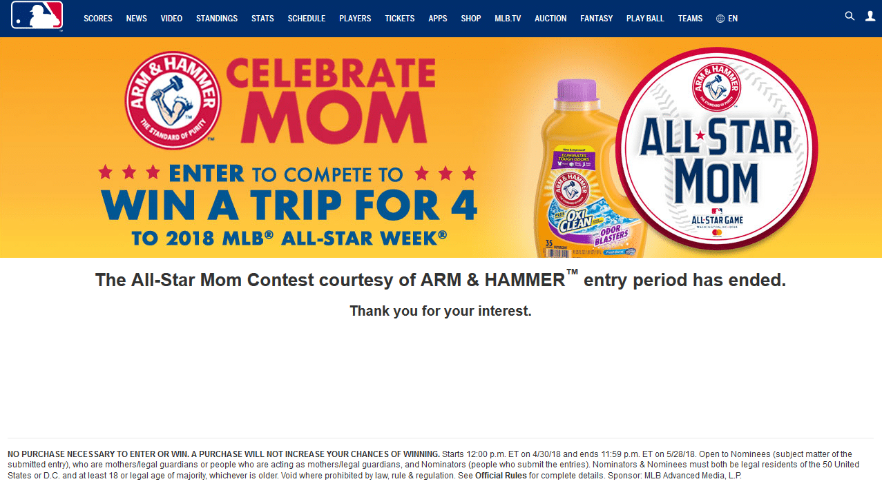 MLB and Arm & Hammer