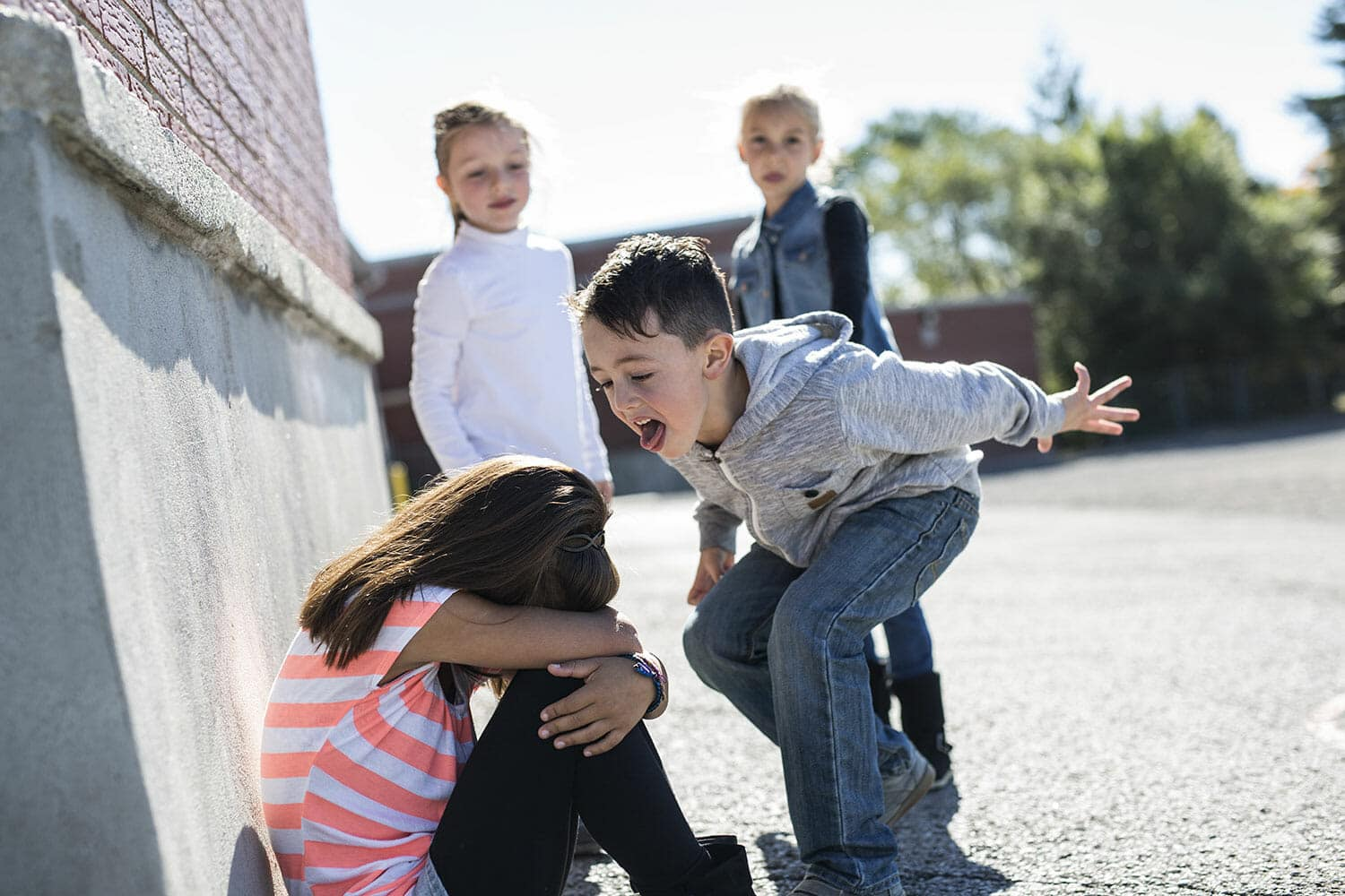 child acting out in school after separation