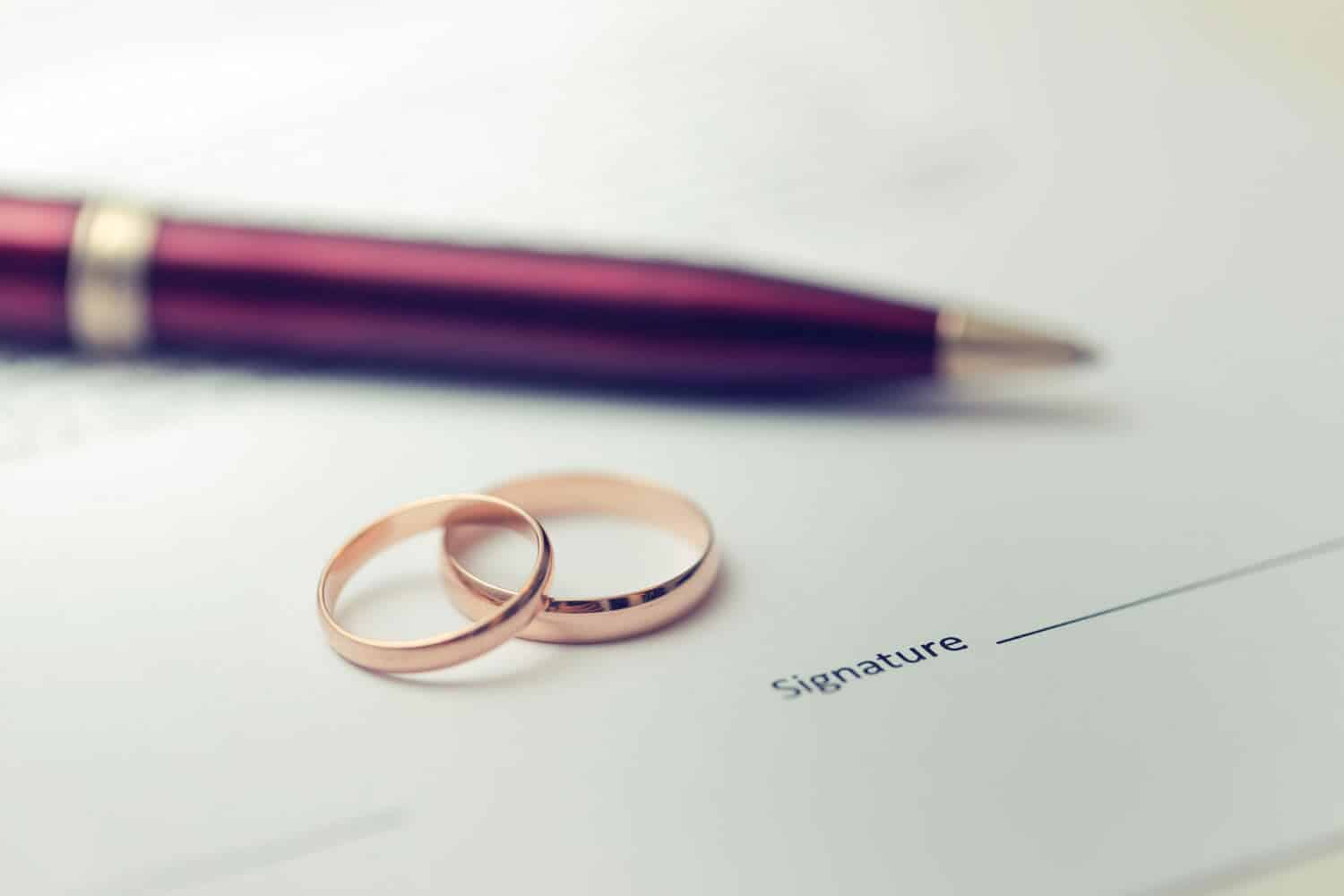 unsigned marriage license and divorce