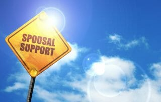 if my wife gets a job what happens with spousal support?