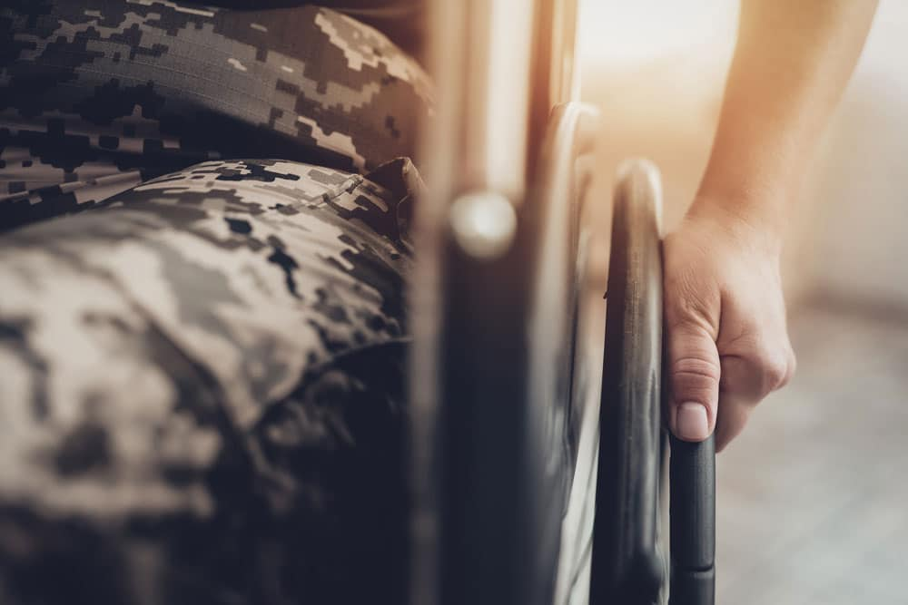 Do disabled vets have to pay spousal support?